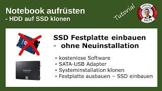 SSD Festplatte einbauen ohne Neuinstallation