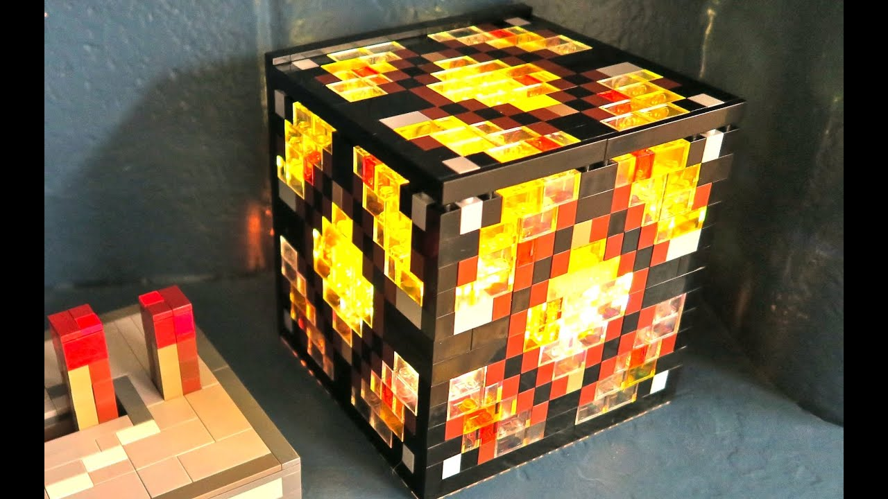 Lego Redstone Lamp Minecraft Youtube