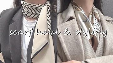 기본 10년쓰는 명품 스카프•트윌리 하울, 코디법! 입문 추천템🛍 에르메스, 디올, 구찌, 버버리, 토템, 명품하울 luxury scarf collection