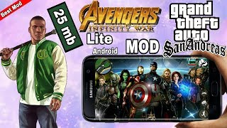 GTA San Andreas Avengers Infinity War lite Mod android by AndroKaran