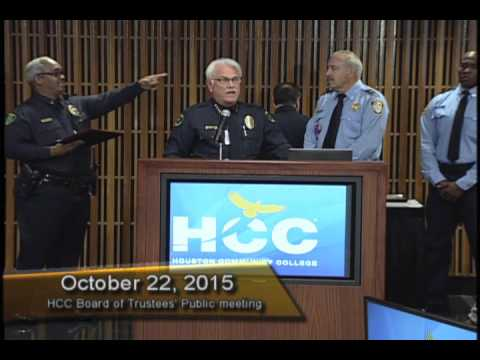 HCC Board of Trustees honors police officer April Pikes