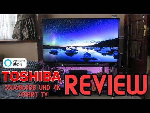 "TOSHIBA U556863DB UHD 55"" 4K Smart TV Alexa Compatible | Best Budget Cheap 4K TV"