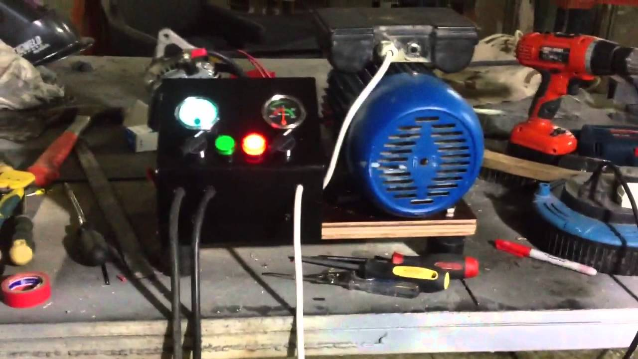 How To Remove A Car Battery >> Battery charger using alternator and AC motor - YouTube