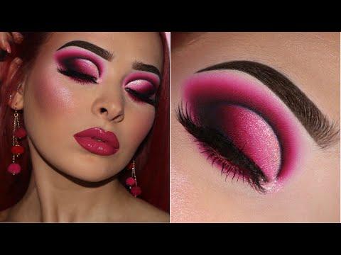 Pink Glam Smokey Eye W/ Pink Glossy Lips   Makeup Tutorial
