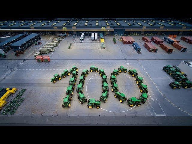 John Deere Traktoren bilden Zahl 100