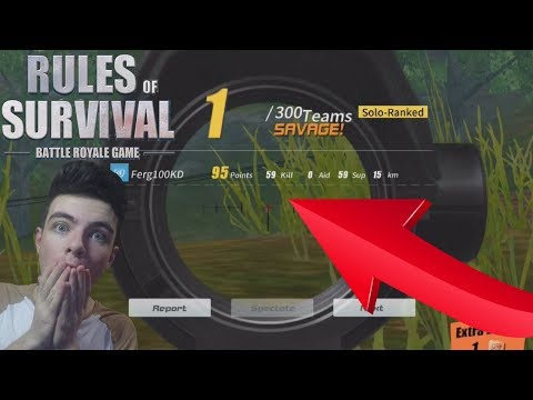 WINNING with 59 KILLS in SOLO on Rules Of Survival ! WORLD RECORD KILLS ! Best Player On ROS ?