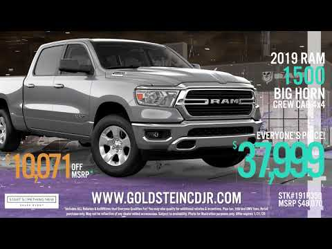 Chrysler Dodge Jeep RAM Truck Sales Event - January 2020 - Goldstein CDJR - Latham NY