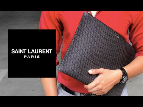 SAINT LAURENT Document Holder + What s Inside! - YouTube 39a09eb464bc1