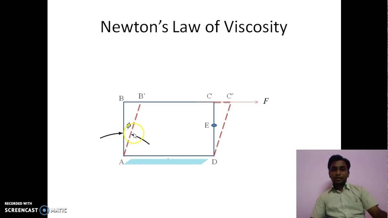 Fluid Mechanics Lecture 5 Newton's Law of Viscosity - YouTube
