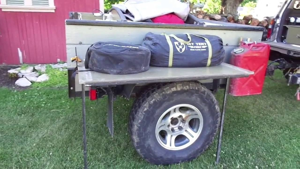 off road trailer build interior youtube
