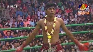 Lao Chetra vs Pornpothak(thai), Khmer Boxing Bayon 22 April 2018, Kun Khmer vs Muay Thai