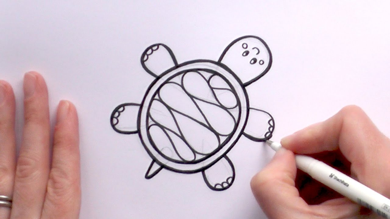 How to Draw a Cartoon Turtle YouTube