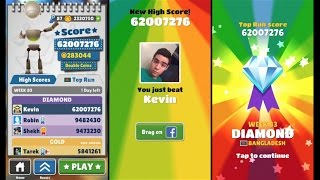 Over 60 Million Points on Subway Surfers! No Hacks or Cheats!