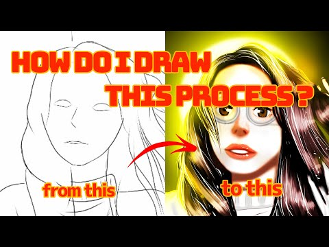MY PROCESS TO FINISH MY DIGITAL PAINTING, tutorial and tips(2021)