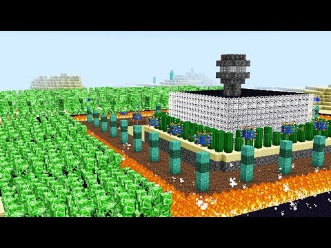 Thumbnail: 1,000 CREEPERS VS. THE SAFEST MINECRAFT HOUSE!