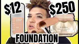 $250 FOUNDATION VS $12 FOUNDATION SHOOK!