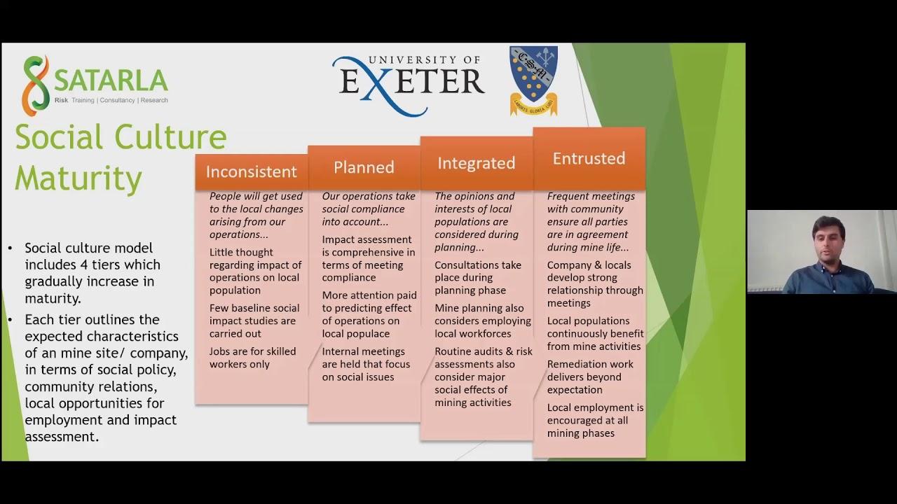 Keiran Doyle - Environmental & social maturity as a tool for guiding responsible practice in the...