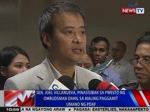 Sen. Joel Villanueva, pinasisibak sa pwesto ng Ombudsman dahil sa maling paggamit umano ng PDAF