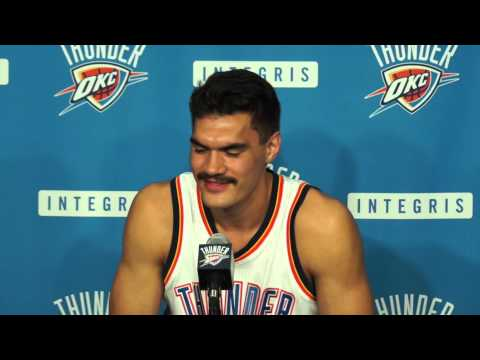 2014 Thunder Media Day With Steven Adams