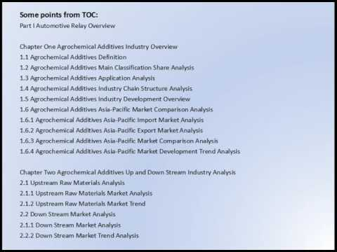 Asia Pacific Agrochemical Additives Market Research Report 2016 2020