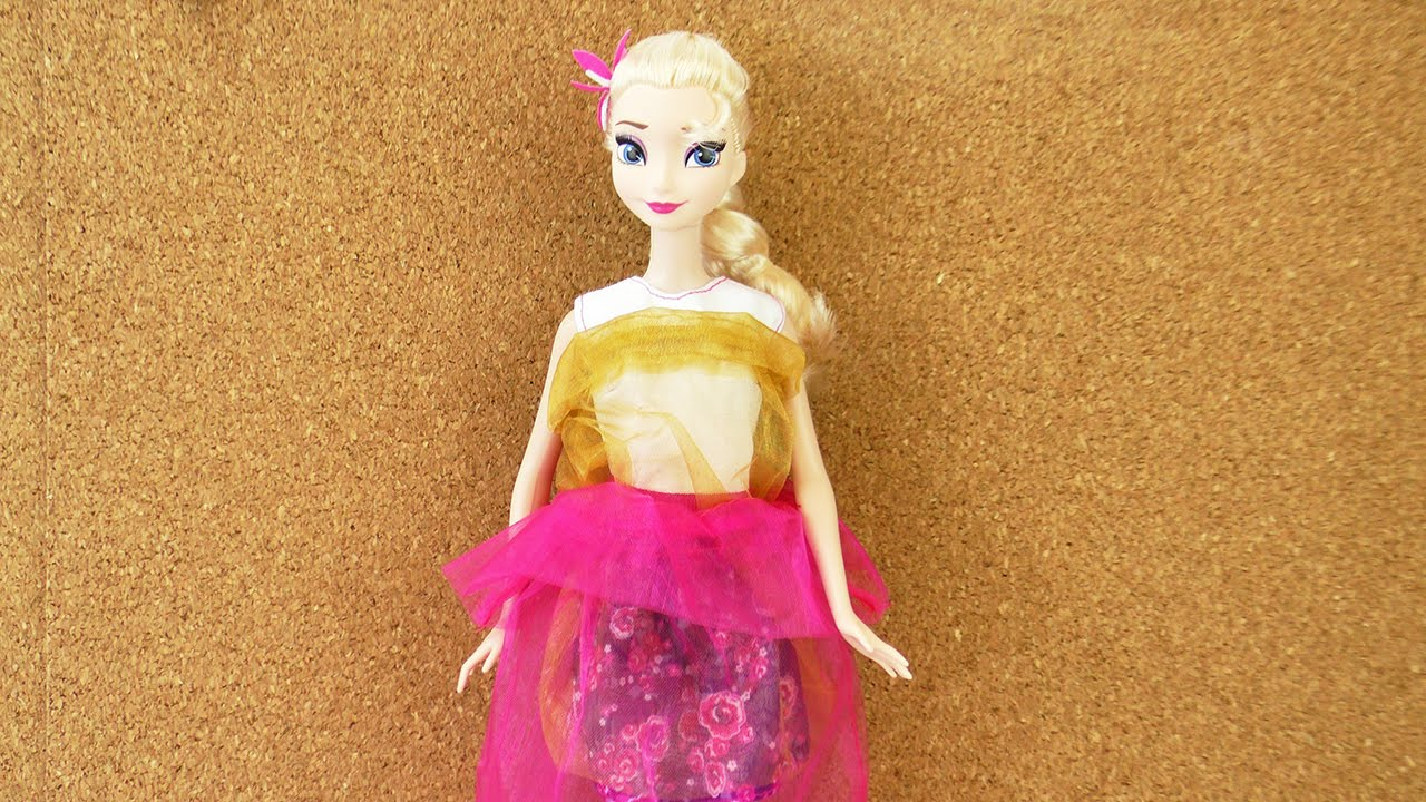 Kleid für Eiskönigin Elsa selber machen   mit Sachen die man zuhause ...