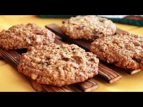 Овсяное печенье с бананами. Видео рецепт