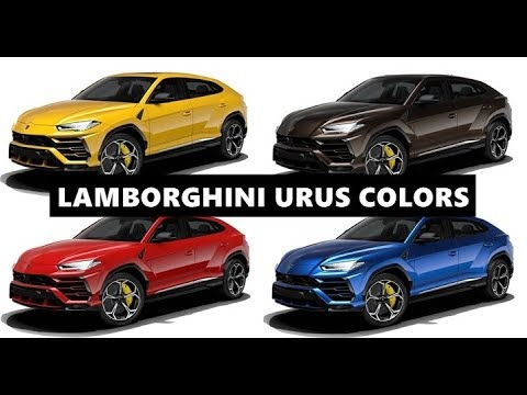 2019 Lamborghini Urus All Colors And Their Names Youtube