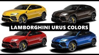 2019 Lamborghini Urus - All Colors (And Their Names)