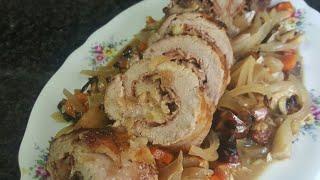 Solomillo de cerdo relleno al horno, receta de Navidad
