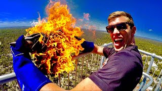 Can a fire extinguisher survive a flaming anvil dropped from 45 meters up? Boy oh boy this was good fun #44Club! SUBSCRIBE to How Ridiculous ...