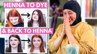 HENNA EXPERT REACTS TO @Courtney Violetta DYEING OVER HENNA & DISCOVERING HER COPPER HENNA RECIPE!