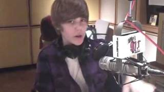 Justin Bieber at AMP Radio on Halloween 2009