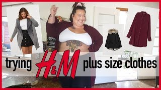 7338d3cd4a5c8 Trying H M Plus Size Clothing HAUL!