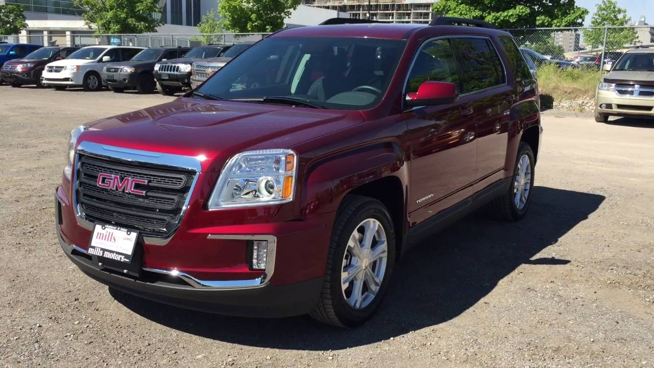 2017 gmc terrain sle 2 fwd crimson red tintcoat oshawa on stock 170006 youtube. Black Bedroom Furniture Sets. Home Design Ideas