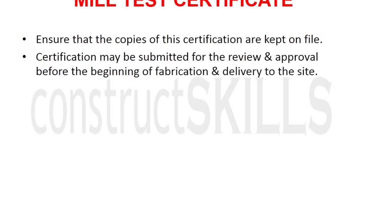 8 11 N Mill Test Certificate Youtube