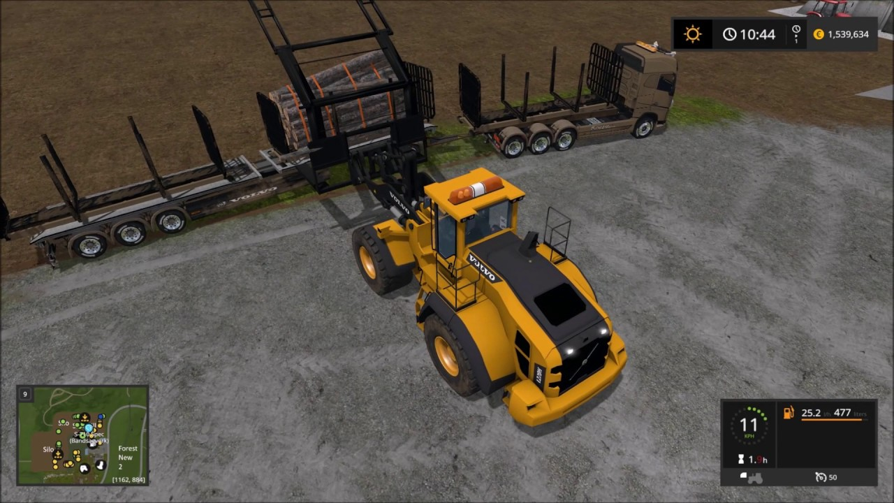 Volvo 220h With Log Grab By Lantmanen Fs Youtube