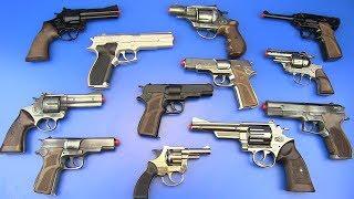 Guns Toys for Kids !!!  Guns - Cap Guns Video for Kids ! Military& Police Gun, box of toys !