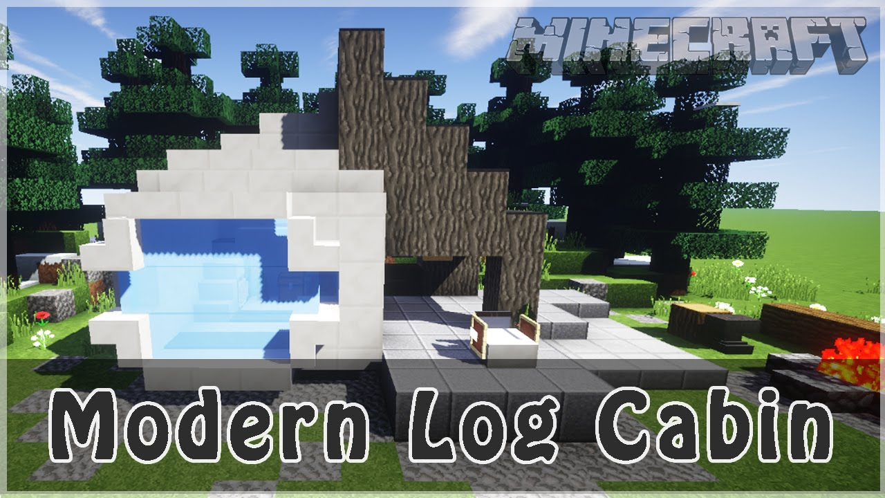 Minecraft How To Build MODERN Log Cabin SSS
