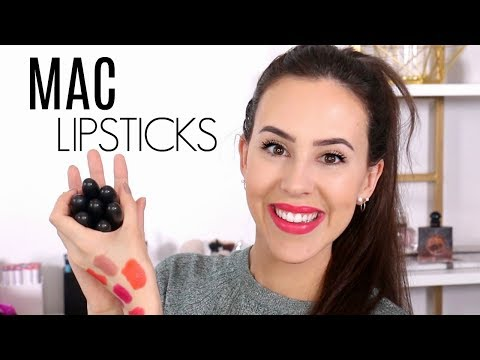 MAC Lipstick Collection || Amplified || Favorites, Swatches & Wear Test