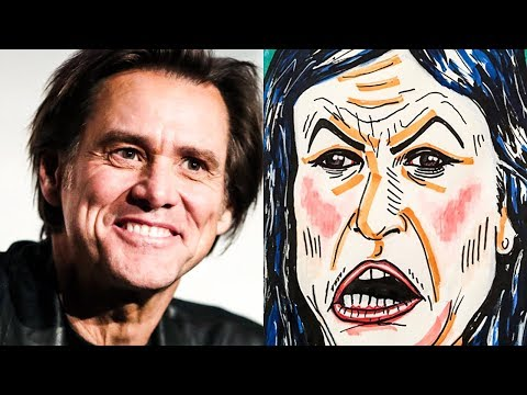 Fox  Gets Offended By Jim Carrey's AWESOME Huckabee Sanders Cartoon