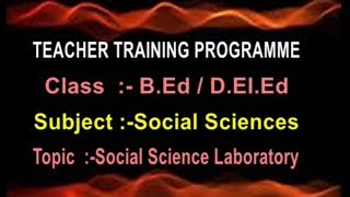 SCERT (TTP) || Social Sciences - Social Science Laboratory || Live With P Arunamma