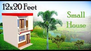 12x20 Feet Small Home Design. कम जगह में अच्छा घर कैसे बनाएं।