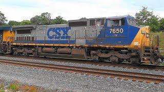 CSX Q135 Double Stack Intermodal In Shenandoah Junction, WV