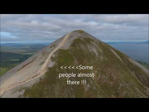 """Croagh Patrick or known as """"The Reek"""" Drone footage."""