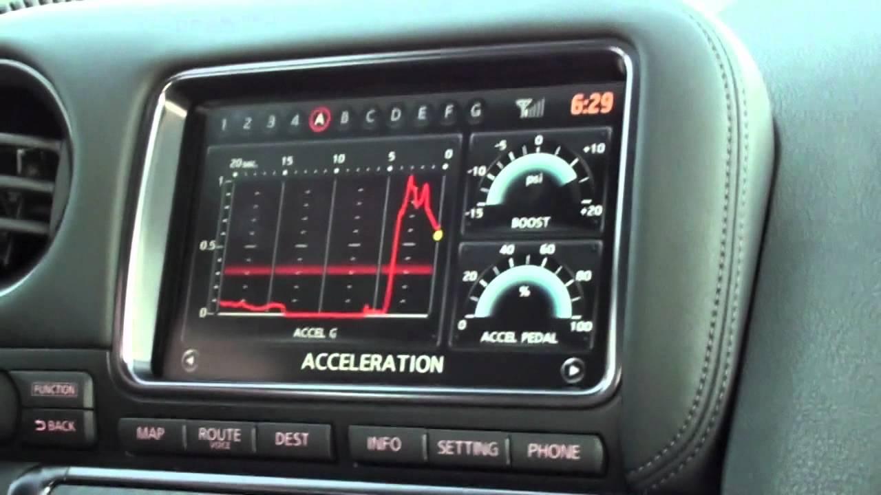 2012 Nissan Gt R Launch Control With G Meter Youtube