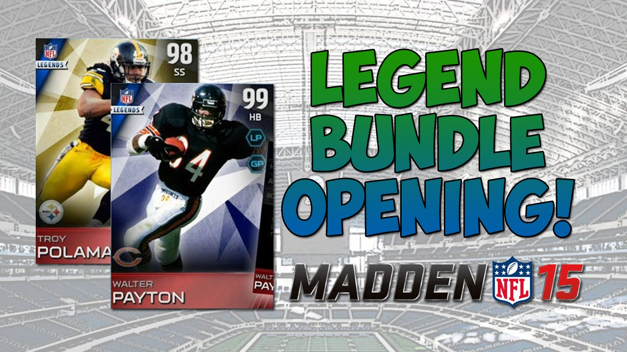 Mut 15 7 legend pack bundle opening madden 15 ultimate team walter payton troy p youtube - Walter payton madden 15 ...