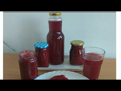 Sok od malina i džem - čisti sok bez dodataka, bez vode - Recept