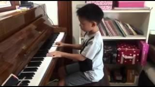 Big big world 鋼琴 練習 piano