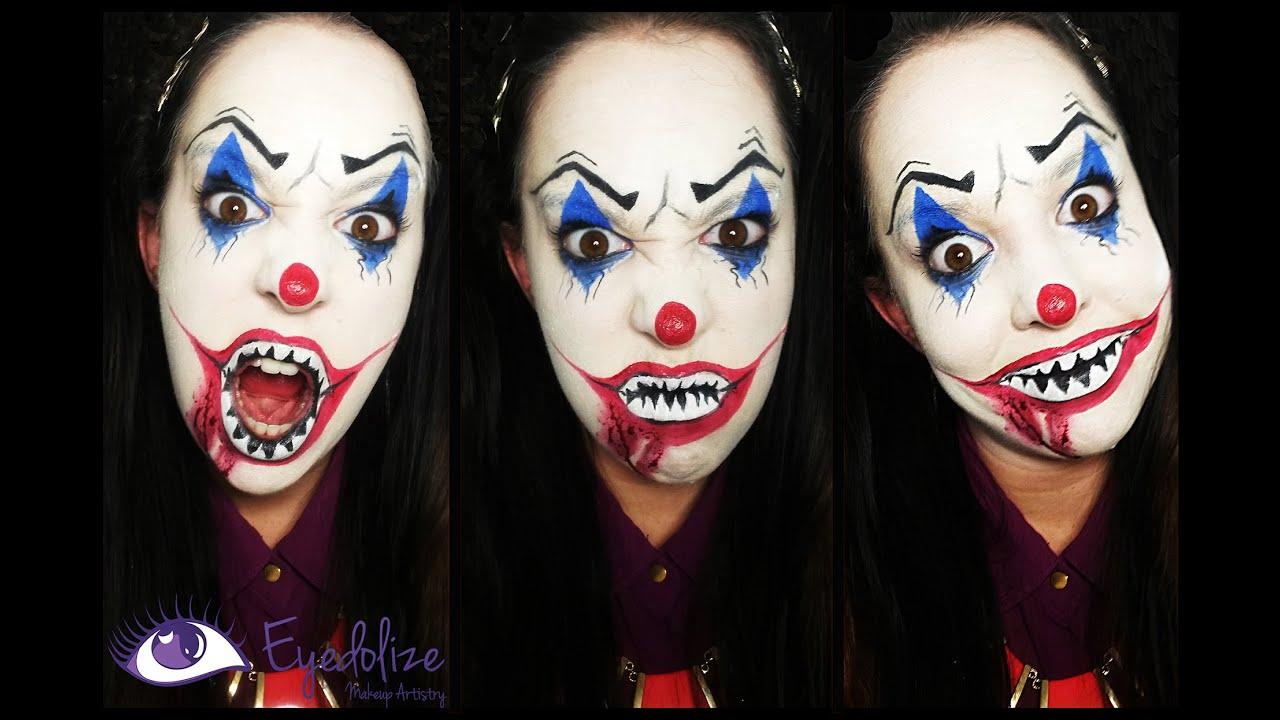 Evil Clown Halloween Makeup Tutorial by EyedolizeMakeup ...