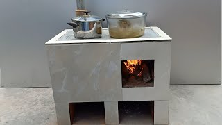 Technology for building smoke free cement stoves is on another level